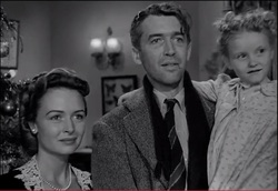 George Bailey finds the fulfillment of  hope in the residents of Bedford Falls.